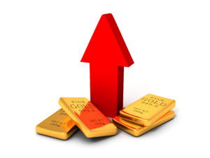 Spot price of gold is on the rise