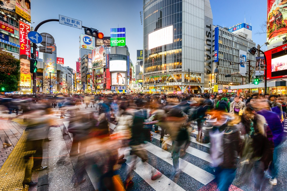 Wibest – Japanese: Busy street in Japan
