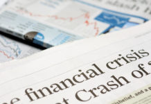 Global Financial Crisis: Newspaper headlines financial crisis.